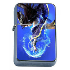 Hot Anime Witches D11 Flip Top Dual Torch Lighter Wind Resistant