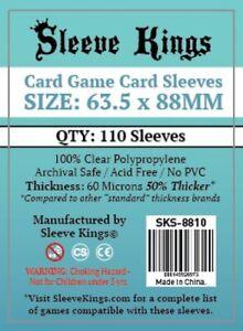 Sleeve Kings Card Game Card Sleeves (63.5x88mm) - 110 Pack, -SKS-8810
