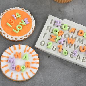 Alphabet Number Silicone Fondant Mould Cake Sugarcraft Chocolate Decorating Mold