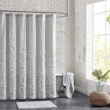 Peri Home Chenille Rose Shower Curtain Soft Gray