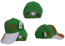 Ireland Irish Harp Erin Go Bragh Orange White Green Hat Cap 3D embroidered (RUF)
