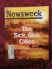 NEWSWEEK March 17 1969 3/17/69 SICK CITIES URBAN LIFE +