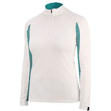 Irideon Ladies CoolDown Ice Fil Long Sleeve Jersey-White/Lagoon-S