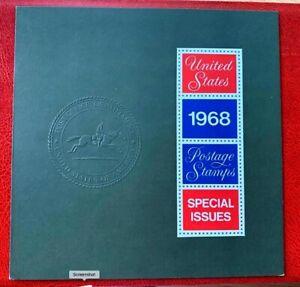1968 USPS Special Issued First Issued Year Set w/ Folder - MNH/OG CV:$250