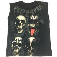 Kiss Men's T-Shirt Destroyer Skulls Gene Paul Rock Band Tour Concert Ecko Tee XS