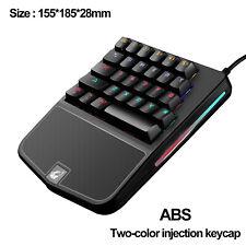 One Handed Mechanical Gaming Keyboard 28 Keys Wired Rainbow Backit Gamer keypad