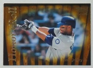 1996 KEN GRIFFEY JR Pinnacle Zenith Honor Roll #135 Baseball Card