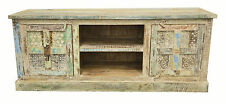 Recycled Timber Carved Shabby Chic French Country TV Stand Entertainment Unit