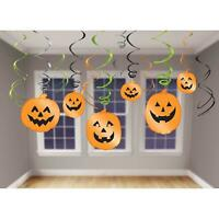 Halloween Hanging Swirl Decorations Pumpkin Jack O'Lantern