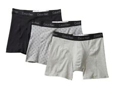 Calvin Klein CK Men L 36-38 Black/ Gray Mini Monogram Logo Boxer Brief - 3 Pack
