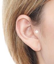 Daisy Flower Tragus 5pedal Crystal Gem Helix Bar Cartilage Ear Earring Bone End