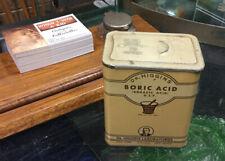 Vintage Boric Acid Tin