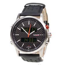 Lambretta Avanti Mens Watch Black Leather Chronograph Carbon Firbe 2112BLA