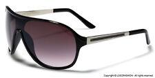 Shield Fashion Aviator Sunglasses Men Women Black Brown Blue Red White