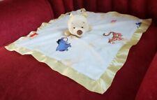 Disney Kids Preffered Winnie the Pooh Lovey Security Blanket Yellow White