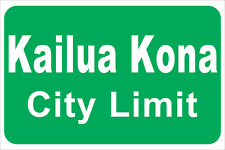 Kailua Kona City Limit Sign Hawaii Triathlon