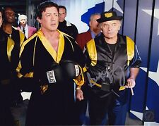 Burt Young w/ Sylvester Stallone Autographed ROCKY IV 8x10 Photo ASI Proof