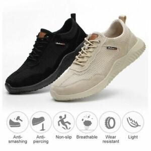 Lightweight Safety Trainers Men Women Steel Toe Cap Work Boots Hiking Shoes J1