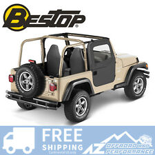 Bestop 2 Piece Soft Doors 97-06 Jeep Wrangler TJ & Unlimied LJ Black Denim