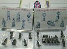 Lot of 2 boxes vtg 1993 Liberty Falls American Pewter Collection figures Ah30 31