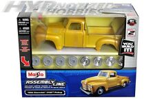 MAISTO 1:24 MODEL KIT 1950 CHEVROLET 3100 PICKUP  DIE-CAST YELLOW/GOLD 39952