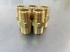 "(5) Brass Pipe Nipple 1/8"" Male NPT  X 1/8"" Male NPT Fitting  Fuel,Oil,Gas,Water"