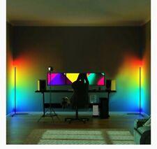 Modern / Colour RGB / Minimalist LED Corner Floor Lamp / White / 1.42m / Remote