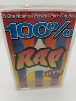 Various Artists - 100% Rap Hits - Cassette Tape