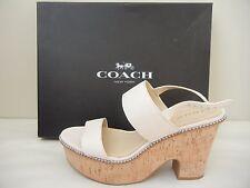 Womens Shoes - Coach - Quartz Platform Sandal - Chalk - Size 9.5M - NWB