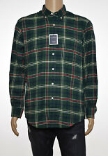 Club Room Mens Green Plaid Stretch Flannel Long Sleeve Button-Down Shirt M
