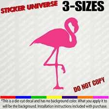 Pink Flamingo Funny Car Window Decal Bumper Sticker - Choose Size & Color - 0131