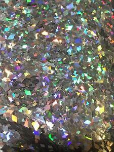 Nail Art 2mm Silver Diamond Shape Rhombus Holographic Glitter Spangles - 4g Bag