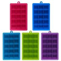 Silicone Ice Cube Tray Ice Jelly Maker Mold Trays with Lid for Whisky Cocktail