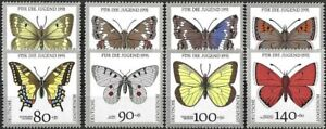 """1991 """"Germany"""" Butterflies, Papillons, Farfalle complete set VF/MNH! LOOK!"""