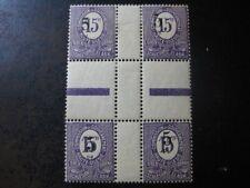 OBERSCHLESIEN UPPER SILESIA Mi. #10 F Hz rare mint center piece stamp block!