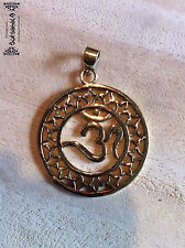 OM bronze pendentif homologue Goa psy Hippie Elfes Inde Inde Népal yoga transe 1