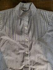 Steven Alan Women's Bib Yoke Check Button Down Top blouse Blue SZ NWOT