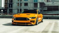 Ford Mustang GT Yellow Auto Car Art Silk Wall Poster Print 24x36""