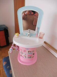 Baby Born  Waschbecken Waschtisch  rosa - hellblau mit Funktionen.....echt super