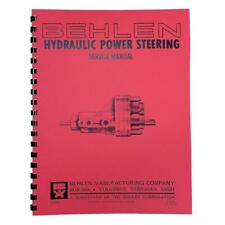 Rep2652 Behlen Power Steering Service Amp Parts Manual Fits Allis Chalmers