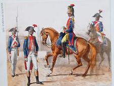 """St DOMINGUE 1795 dessin original à la plume aquarelle  """" LEGION DE POLICE"""""""