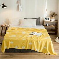 Portable Bedding Blanket Soft Flannel Plaids Fruit Printed Bedspread 120x200cm