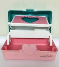 Vintage Naturally Pretty Make Up Case Heart Cosmetic Luggage Mirror Caboodle