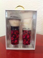 Isaac Mizrahi Retractable Powder Brush Rounded Purple Pink Red Valentine ~New~
