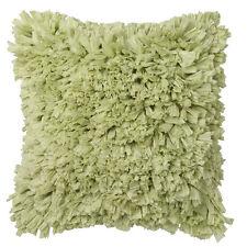 RAFFLES LIME Ruffle Square Filled Cushion 45cm x 45cm Ultima Logan and Mason