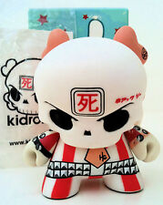 """DUNNY 3"""" SERIES 4 HUCK GEE RED SKULLDUNNY AP CHASE SIGNED/NUMBERED KIDROBOT TOY"""