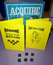 ACQUIRE Game Wild Tile Variant Kit (ONLY) WOOD TILE Editions W/Lloyd's Rules