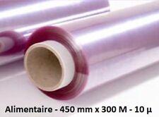 Film étirable alimentaire 450 mm x 300 M 10 µ - 1 bobine en boite micro-ondable