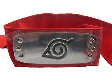 Free shipping!Naruto Konoha Logo Sakura CHOJI  Rock Lee RED Headband