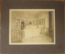 Large 1914 Photograph: Pharmacy/Drug Store Interior - Cuba